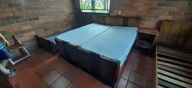 Camas (2)antiguas  con su respectivo colchón y 2 camas sin colchón y 1 mesa de  noche