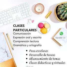 CLASES PARTICULARES/ REFORZAMIENTO EN COMUNICACIÓN