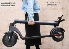Scooter Electrico Backline X7 25km/h 20km Autonomia El Mejor