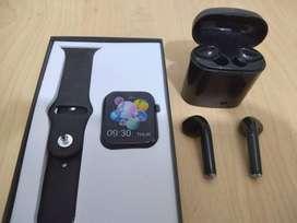 Reloj Inteligente X7 Serie 5 + Audifnos Inhalambricos