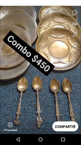 Combo de platitos y cucharitas