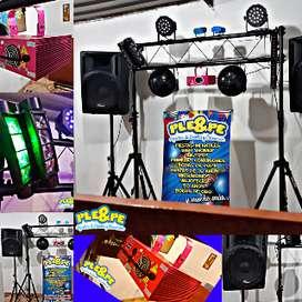 luces ritmicas/sonido/dj/sonido luces/decoraciones/viojotecas/50años/ochentera/chiquifiestas/horaloca/accesorios/