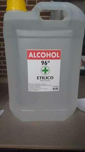 Alcohol Etílico 96% en bidón de 5 litros