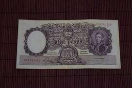 "Billete 1000 pesos ""Moneda Nacional"""