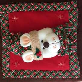 Forros para cojines de navidad muñecos country