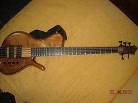 Bajo electrico 5 cuerdas Luthier Aprile