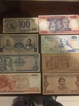 Coleccion de 500 billetes mundiales