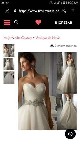 Vendo hermoso vestido de novia talla 6