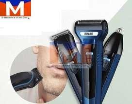 Máquina Afeitadora 3 En 1 Sonar Recargable