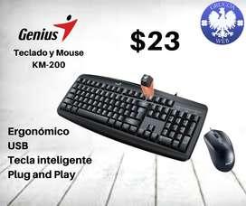Teclado + mouse Genius Smart KM-200