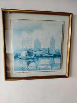 Cuadro - Decoración - Pintura - Puerto Embarcaciones - Barco
