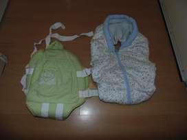 Mochila para llevar bebe y cubre huevito de abrigo