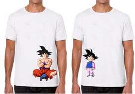 Camisetas Personalizadas Papá e Hijo DragonBall