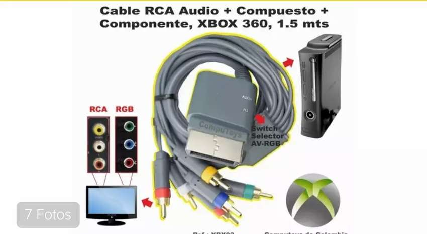 ZXBOX03 CABLE RCA AV+RGB , XBOX 360. 0