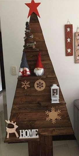 Arbol navideño en madera