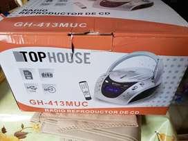 Reproductor de CD + Radio TopHouse, usado segunda mano  La Boca, Capital Federal