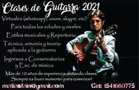CLASES DE GUITARRA Y MUSICA ONLINE O PRESENCIAL!!!