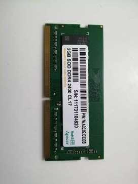 Memoria ram Ddr4 2GB para portatil