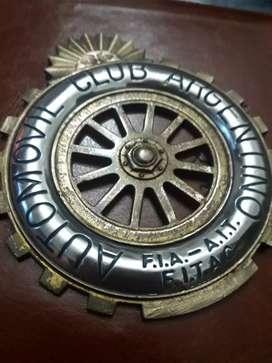 Insignia Automóvil club Argentino Original de Bronce
