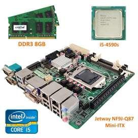 Combo Board Jetway Nf9j-q87 + Intel Core I5-4590s + Ram 8gb