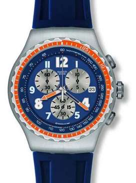 SWATCH IRONY THE CHRONO COLOR AZUL YOS423 NUEVO DEPORTIVO