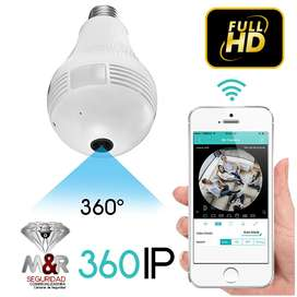 CAMARA BOMBILLO IP WIFI 360 GRADOS HD