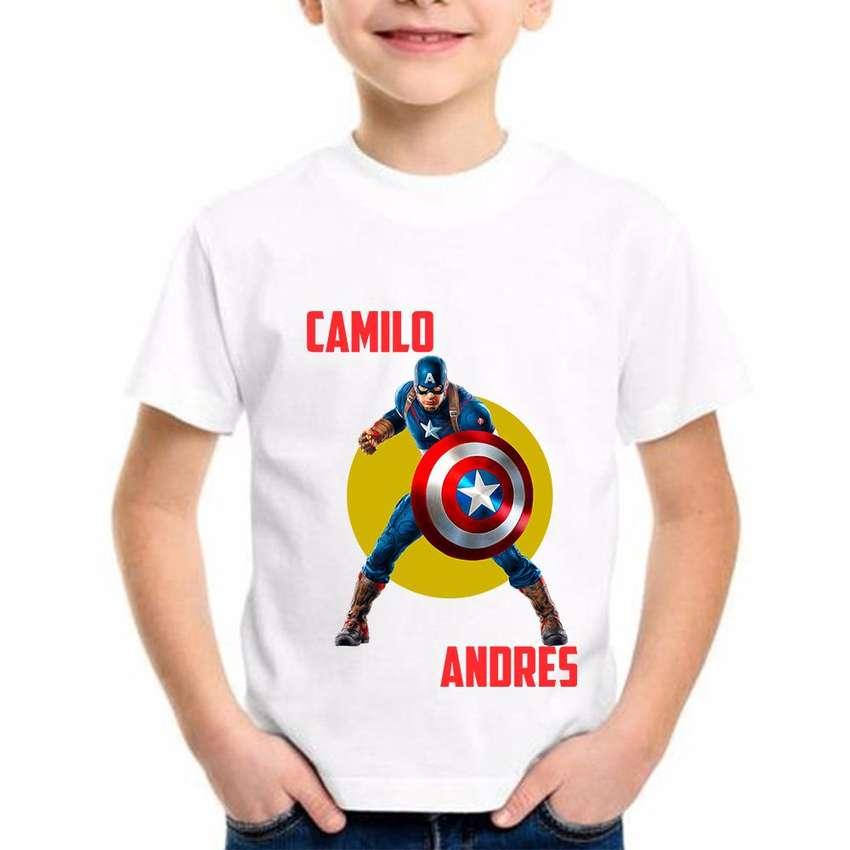 Camisetas Personalizadas Niño Capitan America 0