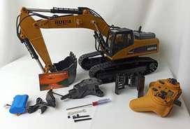 Excavadora Rc Huina toys 580 1580 Excavadora Caterpillar Control Remoto