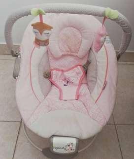 Silla vibradora musical rosa para Bebe