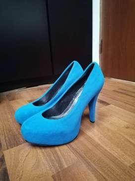 Tacones Azul Celeste