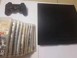 REMATE: PS3 SLIM(250GB) 10 JUEGOS FÍSICOS Y 2 MANDOS