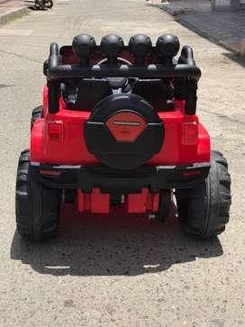 Carro Infantil Batería Eléctrico Campero Montable bebe niños Renegade Rojo