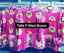 Maxi buzos Emojis Talles Juveniles