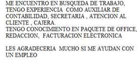 busco empleo como asistente contable o secretaria al norte  de Quito