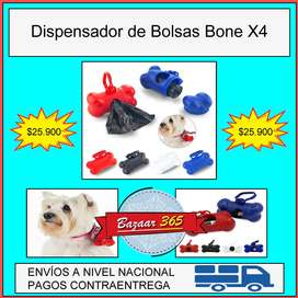 Dispensador de Bolsas Para Perros Bone X4