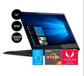 Laptop Lenovo ideapad 2 en 1 Ryzen 5 256GB SSD 8GB HD Touch