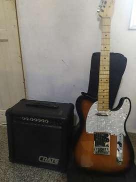 Vendo Guitarra Electrónica Fender con su equipo de sonido