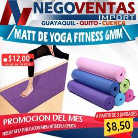 MATT DE YOGA FITNESS 6MM