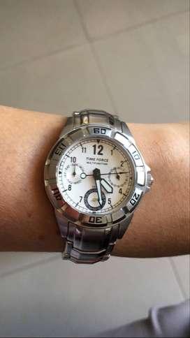 Reloj Timeforce Original Mujer Plateado