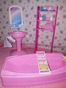 Barbie su baño de Mattel años 90