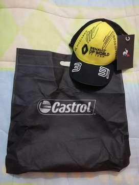 Gorra oficial Renault F1 Team Autografiada