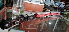 Tren compacto vagones amplios carrilera 350cm luz sonido de locomotora estilo pasajeros