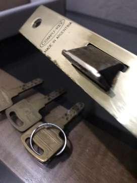 Cerradura compu-key automatica bronce