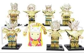 Lote x 7 caballeros del zodiaco tipo Lego NO SON LEGO