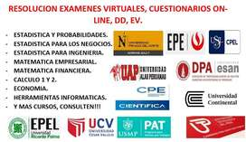 RESOLUCION DE EXAMENES VIRTUALES: UPC EPE, CPEL USIL, WORKING ADULT UPN, DPA ESAN, ETC.