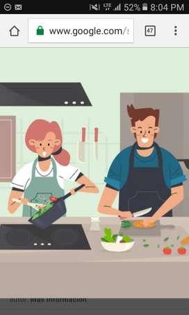 Busco empleo ayudante cocina