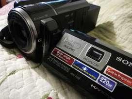 Camara Video Sony Full hd Para Bluray HDRPJ50 con Proyector