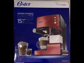 Cafetera Oster automática para espresso, latte y cappuccino PrimaLatte roja