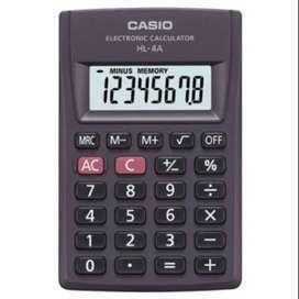 Calculadora Casio De Bolsillo Hl-4a 8 Dígitos