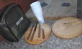Ser juego tabla, vaso, y cubierto para 2